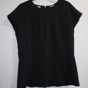 The Limited Scandal Collection Black Zip Up Blouse